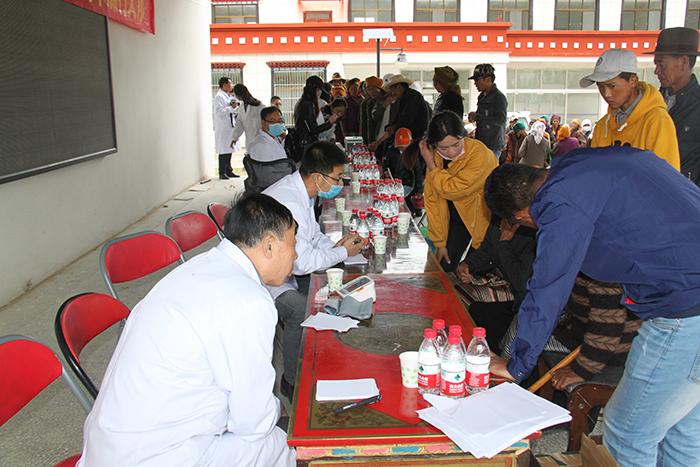 阜康医院与林周县人民医院为村民免费义诊